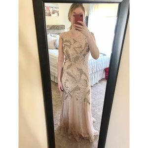 Sparkly blush pink prom dress
